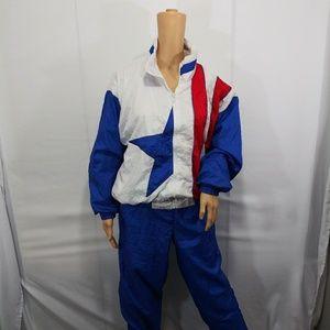 Active Exposure Pants - Vintage Active Exposure Flag Tracksuit Size Medium